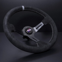 DND Performance 350MM Alcantara Race Wheel – Grey Stitch