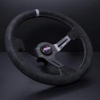 DND Performance 350MM Alcantara Race Wheel – Grey Stitch