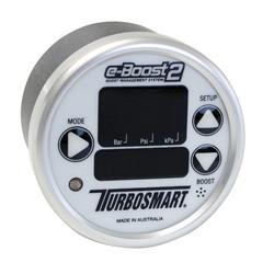Turbosmart eB2 60mm e-Boost Gauge – White Silver