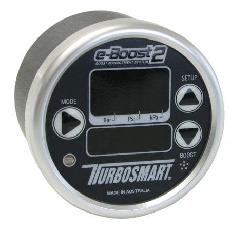 Turbosmart eB2 60mm e-Boost Gauge – Black Silver