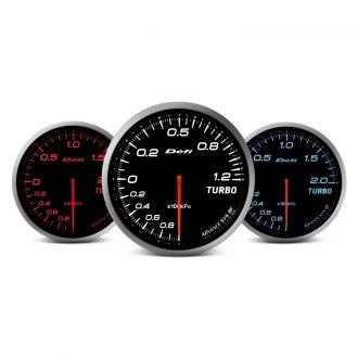 Defi Advance BF Series (Metric) 60mm fuel press gauge – red