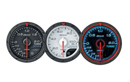 Defi Advance CR Series 60mm exhaust temp gauge - white