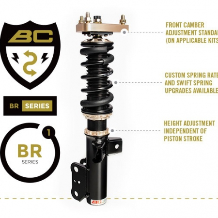 BC Racing BR Type Coilover for 15-up Ford Mustang - (E-32)