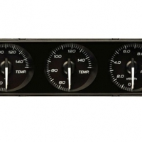 Defi DIN Gauge – black dial – red illumination