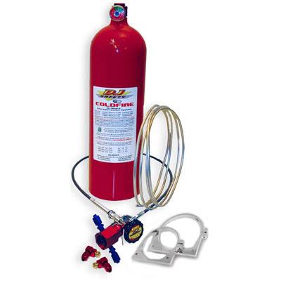 DJ Safety 10 lb. Coldfire Foam Comp Remote Sys. Injector w/bracket, 3noz, 10', 6' release