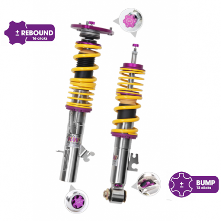 KW Clubsport 2 way Coilovers - BMW F30 3 Series/ F32 4 Series wo/ EDC