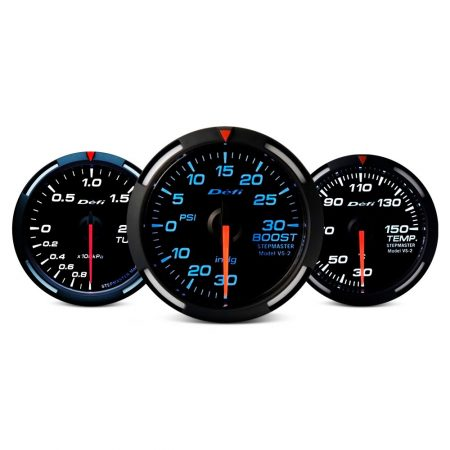 Defi Racer Series 52mm temp gauge - blue