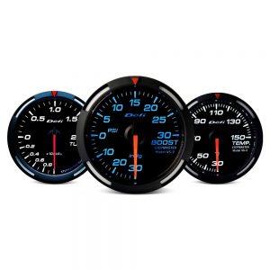 Defi Racer Series 52mm ex.temp gauge - red w/ white needle