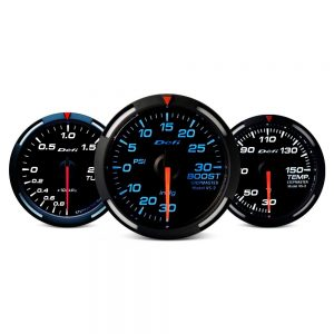 Defi Racer Series 80mm 9000rpm tacho gauge – blue