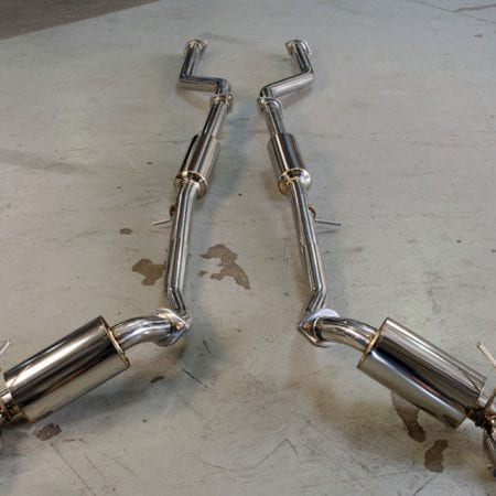 Agency Power Catback Exhaust Stainless Tips Nissan 370Z 09-14