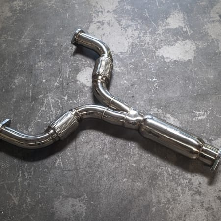 Agency Power Stainless Steel Resonated Y-Pipe for Nissan 370z 09-16