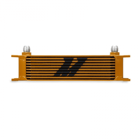 Mishimoto Universal 10 Row Oil Cooler – Gold