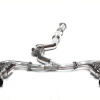 Invidia 14-UP Lexus RCF Q300 Quad Rolled S.S. Tip Cat-Back (W/Mid-Pipe)