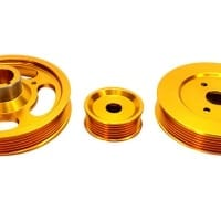 ISR Performance Aluminum Pulley Kit – Hyundai Genesis Coupe 2.0T – Gold