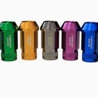 NRG M12 x 1.25 Lug Nut Lock Set 4 pc Red