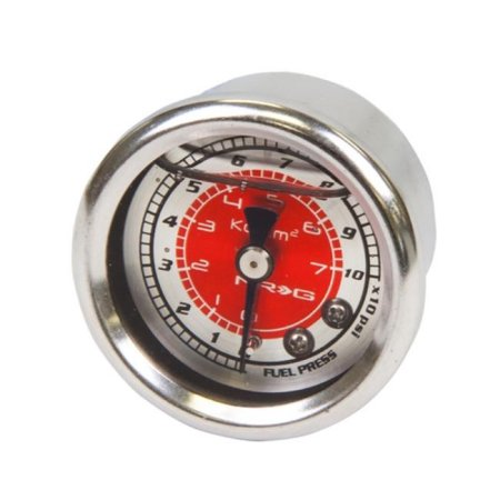 NRG Fuel Regulator Gauge Red 100psi
