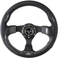 NRG RACE STYLE- 320mm Sport Steering Wheel w/ Black Trim( 001CBL)