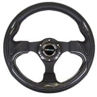 NRG Reinforced Steering Wheel- 320mm Sport Steering Wheel w/ Carbon center spoke