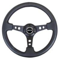NRG 350mm Sport Steering Wheel (3″ Deep) – Black Leather