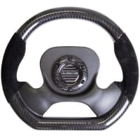 NRG CARBON FIBER STEERING WHEEL with Suede accent 320mm CF CENTER PLATE two tone carbon