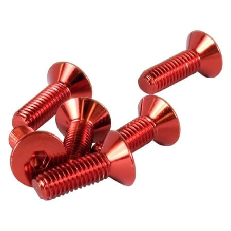 """NRG Steering Wheel Screw Kit Upgrade Red """"CONICAL"""""""