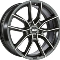 BBS XA – Satin Black, Diamond Cut Face – 20×9.5, 5×120, ET42, PFS