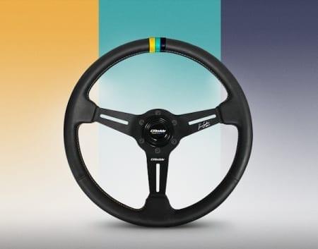 GReddy X Ken Gushi Black Leather Steering Wheel