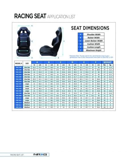 NRG FRP Bucket Seat – Street/Track Comfort Style – (Medium)