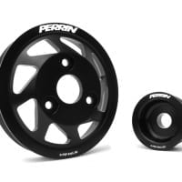 PERRIN Accessory Pulley Kit, Water Pump & Alternator for BRZ/FR-S, Black
