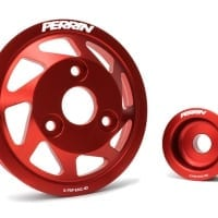 PERRIN Accessory Pulley Kit, Water Pump & Alternator for BRZ/FR-S, Red