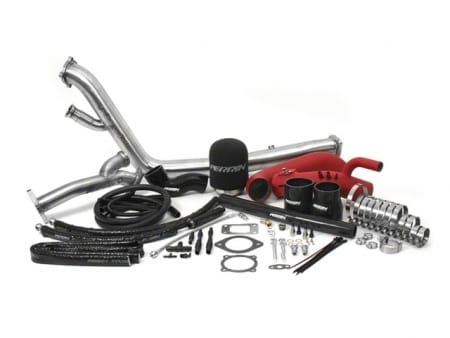 PERRIN Rotated Turbo Tuner Kit 08-14 WRX/STI Red Intake