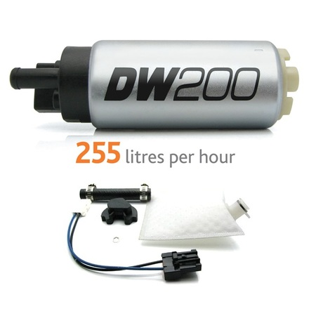 Deatschwerks DW200 255lph in-tank fuel pump w/ Universal Install Kit. Fits Most.