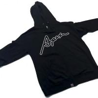 Apexi APEX Cursive Zip-Up Hoodie, Medium, Black