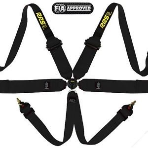 RRS FIA EVO 6 HARNESS, 3/2'' HANS COMPATIBLE