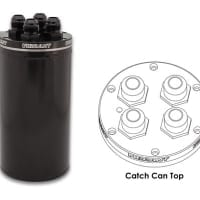 Vibrant 4in OD Universal Catch Can 2.0 w/ 4 Adapters Aluminum – Anodized Black