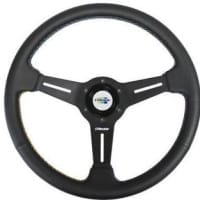 GReddy GPP 3 Spoke 340mm Black Leather Steering Wheel