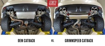 Grimspeed Catback Exhaust System – Resonated – 11-14 WRX , 08-14 STI Hatchback
