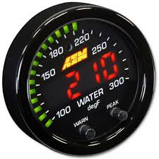 AEM X-Series 300F/150C Water/Trans/Oil Temp Gauge