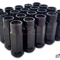 GK Tech Black M12 x 1.25 Open Ended Lug Nuts