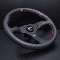 DND Performance Leather Touring Wheel – Red Stitch