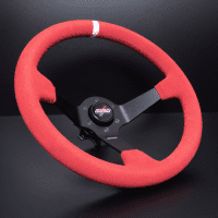 DND Performance 350MM Full Colored Suede Wheel – Red