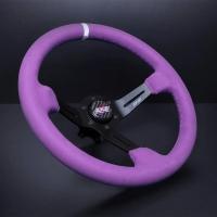 DND Performance 350MM Full Colored Alcantara Wheel – Purple