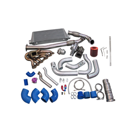 CX Racing Turbo Kit For 2JZGTE 2JZ Swap with 240SX S13 S14 Single T72 Turbo Manifold Downpipe