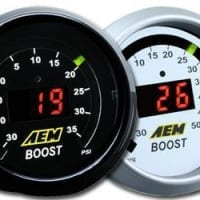 AEM 52mm Digital Boost Gauge -30-35psi