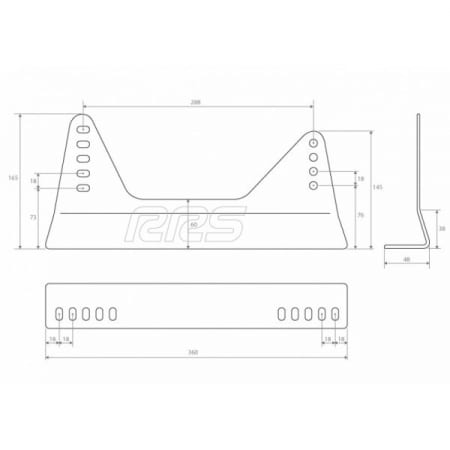 RRS FIA Rated Steel Seat Mounting Brackets (for 1x seat)