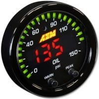 AEM X-Series 0-150 Oil Pressure Gauge Kit | 30-0307