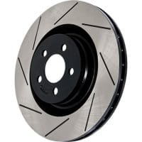 StopTech Right Front Power Slot Slotted Rotor for 5 Lug 240SX