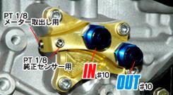 TOMEI N2 Oil Block Adapter – Nissan SR20DET