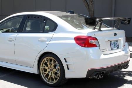 Perrin Wrinkle Black Rear Window Vent – 2015+ Subaru WRX/STI