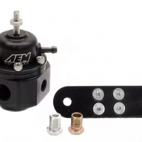 AEM Electronics Adjustable Fuel Pressure Regulator – Black | 25-302BK